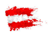 Austrian flag made of colorful splashes — Stock Vector