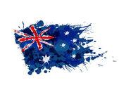 Australian flag made of colorful splashes — Stock Vector