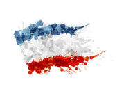 Flag of Crimea made of colorful splashes — Stock Vector