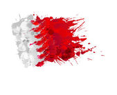 Flag of Bahrain made of colorful splashes — Stock Vector