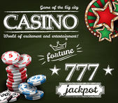 Casino poster background — Stock Vector
