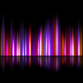 Bright sound wave background — Stock Vector