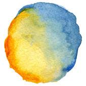Sulu boya spot yuvarlak — Stok Vektör