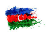 Flag of Azerbaijan made of colorful splashes — Stock Vector
