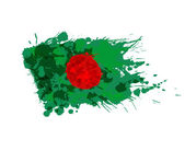 Flag of Bangladesh made of colorful splashes — Stock Vector