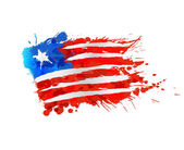 Flag of Liberia made of colorful splashes — Stock Vector