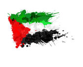 Flag of  Palestine made of colorful splashes — Stock Vector