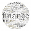 Finances word cloud — Foto Stock