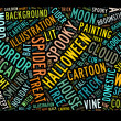 Royalty-Free Stock Photo: Halloween word cloud