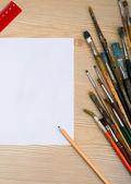 Colori, pennelli e strumenti — Foto Stock