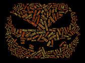 Halloween word cloud — Stock Photo