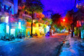 's avonds straat — Stockfoto