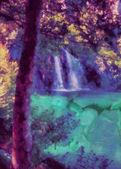 Fairytale waterfall — Stock Photo