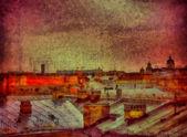 Widok na dachy — Zdjęcie stockowe