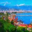 Panoramic view of beautiful embankment in Turkey — Stock fotografie