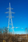 High voltage electric tower — Stock Photo