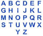 Icy alphabet collection — Stock Photo