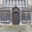 Entrance of the Church of Saint Peter and Saint Paul. Ostend - Stock Photo