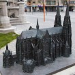 Model of  Church of Saint Peter and Saint Paul. Ostend, Belgium - Stock Photo