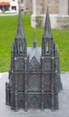 Model of Church of Saint Peter and Saint Paul. Ostend, Belgium — Stock Photo