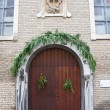 Entrance of the Capuchin church. Ostend, Belgium - Stock Photo