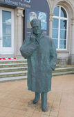 Statue of King Baudouin in Ostend, Belgium — Stock Photo