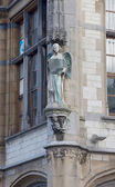 Sculpture of an angel on the former post office. Ghent, Belgium — Stock Photo
