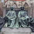 Постер, плакат: Monument for Hubert and Jan van Eyck Ghent Belgium