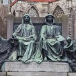 Monument for Hubert and Jan van Eyck. Ghent, Belgium — Stock Photo