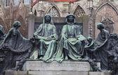 Monument for Hubert and Jan van Eyck. Ghent, Belgium — Stock Photo