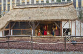 Nativity scene on Grand Place in Brussels, Belgium — Stock Photo