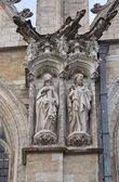 Statues of martyrs. Notre-Dame du Sablon, Brussels — Stock Photo