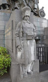 Statue of Belgian grenadier of WWI. Brussels, Belgium — Stock Photo