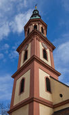 Tower of Holy Cross church (circa XVII c.).Offenburg, Germany — Stock Photo