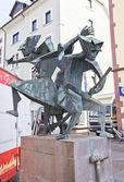 Drie heksen sculptuur. offenburg, duitsland — Stockfoto