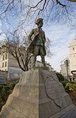 Monument for Jean-Francois de la Barre. Paris, France — Stock Photo