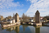 Covered Bridges (Ponts Couverts ). Strasbourg, France — Stock Photo