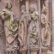 Stock Photo: Sculpture of St Laurent with followers. Strasbourg Cathedral