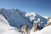 Mont Blanc peak in winter — Stock Photo