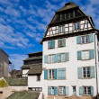 Historic house on quay of Ill river. Strasbourg, France - Stock Photo