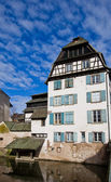 Historic house on quay of Ill river. Strasbourg, France — Stock Photo