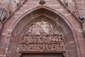 Tympanum of church of Saint-Pierre-le-Vieux in Strasbourg — Stock Photo