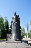 Monument for Rudnev, commander of Varyag. Tula, Russia — Stock Photo