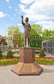 Statue of the Lefthander, Russian folk craftsman. Tula city, Rus — Stock Photo