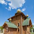 Wooden church of Saint prince Vladimir. Tula, Russia — Stock Photo