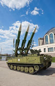 Russian mobile surface-to-air missile system 2K12M1 Kub-M1 — Stock Photo