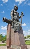 Monument for Nikita Demidov in Tula city, Russia — Stock Photo