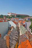 View of Bratislava Castle (founded in IX c.). Bratislava, Slovak — Stock Photo