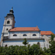 Stock Photo: Church of the Holy Cross (1772). Devin, Slovakia