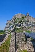 Ruins of Devin castle. Bratislava, Slovakia — Stock Photo